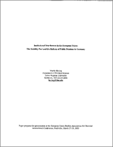 essays on residual versus institutional welfare