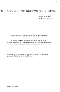 Amended proposal for a Regulation (EEC) of the Commission on